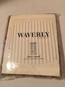 """Waverly Sheer Panel 60"""" Wide X 84"""" Long Brown Drapes"""