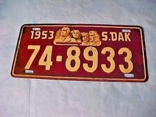 VINTAGE 1953 Wheaties Cereal Mini Auto  Pedal Car  Bike Bicycle PLATE S DAKOTA