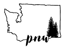 Washington PNW Pacific Northwest Decal