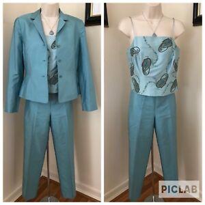 ANN TAYLOR Women's 3 PC Suit Pants~Blazer Jacket~Tank Top Sz 4 P Business Career