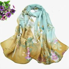 Ladies Womens  Soft Scarf Long Printed Neck Shawl Chiffon Scarve Warm Wrap Shawl