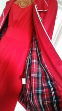 ♡♡Pre loved WOMEN'S Alannah Hill Red Sateen Coat Size 10 in excellent condition
