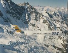 TAT FOKKER 100 F-GIOC LARGE PHOTO TRANSPORT AERIEN TRANSREGIONAL FRANCE