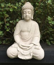 30cm Buddha Statue Zen Ornament with Stunning Sand Finish - Indoor or Outdoor