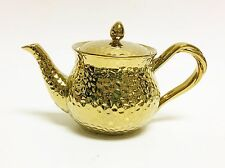 NEW GRACE HAMMERED DESIGN REFLECTIVE,METALLIC GOLD TEAPOT,TEA,COFFEE POT