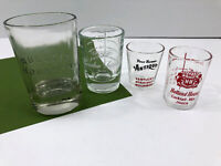 4 Vintage Whiskey Bourbon Shot Glasses BULLEIT American Four Roses Holland