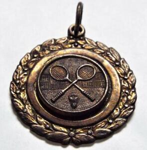 Vintage Badminton Three Clubs 1950s Fob Medal