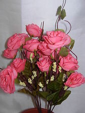 2 Sets High Quality  Artificial Plant Rose Flower Pink  XY