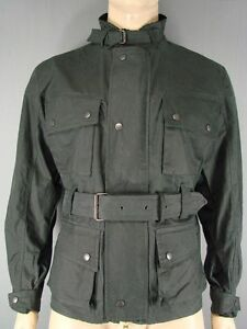 NEW WITH TAGS ROYAL PADDOCK BELTED BLACK WAXED PURE COTTON JACKETS-S/M/L/XL/XXL