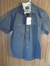 Wrangler Premium Double Pocket Shirt Small Blue Short Sleeve Cowboy
