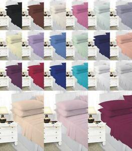 Plain Polycotton  Duvet Pillow Case Bedding Set Bolster V Shape Pillow Covers