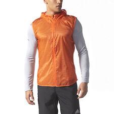 ADIDAS Supernova TKO Flock Running Vest sz L Large Energy Orange Run Lightweight