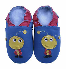 shoeszoo soft sole leather baby shoes ant blue 6-12m S