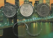 New  AIR-TITE  Clear Coin Protectors for Liberty - Morgan & Peace Silver Dollars