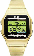 Timex T78677, Men's Digital Goldtone Expansion Watch, Alarm, Indiglo, Chrono