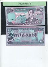 WORLD BANK NOTE - IRAQ SADAM HUSSAIN 250 DINARS UNC # B002