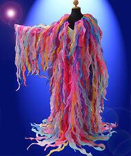 Multi-color Tissue Organza cabaret Drag queen Show girl Ruffle Coat