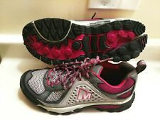 "Merrell CTR-RIFF Women's ""Drizzle Hiking Gray Pink Leather Shoes Sz 7"