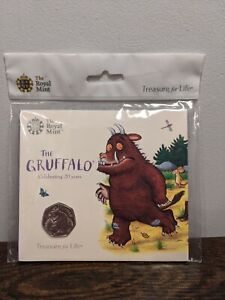 The Royal Mint The Gruffalo Celebrating 20 years Uncirculated 50p Coin