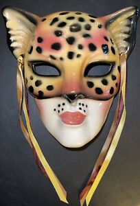 Clay Art Leopard Cheetah Cat Mask 1990, Extremely Rare!