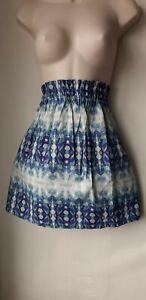 Ladies H&M SKIRT  size Small Boho Tie Die Print Mini A Line Cotton