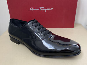 New Salvatore Ferragamo Belshaw Patent Leather  Dress Shoes Size 8 EE $730