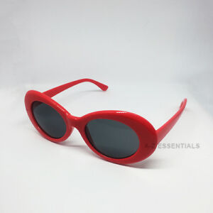 Kurt Cobain clout goggles oval sunglasses - Red
