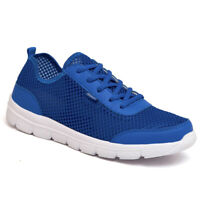 Mens Womens Breathable Mesh Shoes Walking Sneakers Casual Lace Up Low Top Shoes