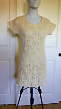 Anthropologie Sparrow Wool Tunic Open Knit Crochet Boho Sweater Dress XS K1