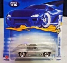 Hot Wheels #15 Covette Stingray 35th Anniversary 2003 Silver