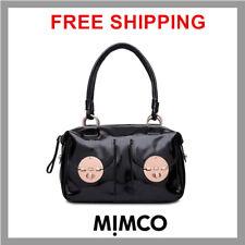 Mimco Turnlock Large Hand Bag Patent Leather Black LARGE Handbag GENUINE new DF