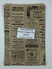 625 X 925 Newsprint Design Paper Merchandise Bag Retail Shopping