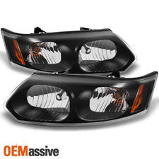 03-07 Saturn Ion 4 Doors Sedan Black Headlights Replacement Left + Right Pair (Fits: Saturn Ion)