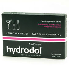 Hydrodol Hangover Relief 16 Capsules -  Drinking Alcohol Supplement Biorevive