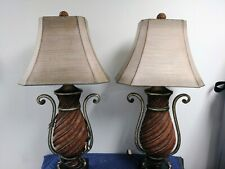 Uttermost Set Of 2 Distressed Ceramic Table Lamp in Brown