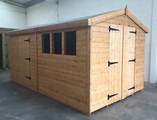 Garden shed 14 x 8 19mm cladding Apex roof  *FREE INSTALLATION*