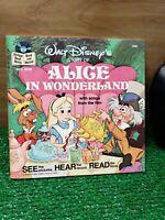 VINTAGE 1979 WALT DISNEY ALICE IN WONDERLAND BOOK AND RECORD MIP