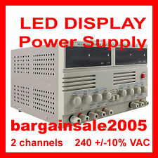 HQ Triple O/P Linear DC Power Supply Dual LED 30V 5A@2