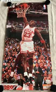 Vintage XL Wall Poster Michael Jordan - 49 X 24 Inch - Wheaties - Chicago Bulls
