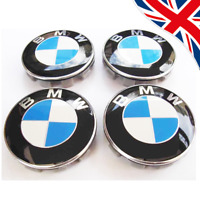 BMW ALLOY WHEEL CENTRE HUB CAPS E30,E36,E46,E92 1,3,5,6,7,X5 X6 M3 Z4 68mm NEW