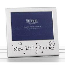 Nuevo hermano Pequeño Bebé Satén Plata Marco de fotos-Shudehill Giftware