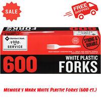 Member's Mark White Plastic Forks 600 ct. Box Disposable Heavy-Duty Construction