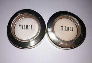 2X  Milani Bella Eyes Gel Powder Eyeshadow  07 Bella White &  24 Chiffon Sealed