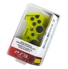 Yellow New SixAxis DualShock 3 Wireless Controller For PS3 Plus USB Line Charger
