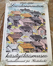 50yr Luostarinmaki Museum of Village life of Finland in 1800's Poster 19.7x27.5""