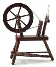 Dollhouse Miniatures 1:12 Scale Spinning Wheel, Walnut #Cla00265