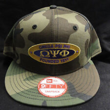 Omega Psi Phi Camo New Era NE400 Snap Back with Oval Patch