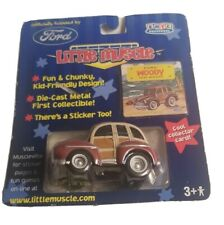 Ertl Little Muscle Car 1946 Ford Woody Distributed In 2001 die cast  kids toy