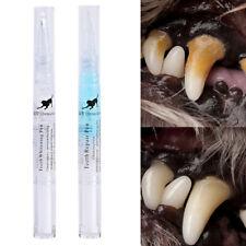 Pet Dog Cat Teeth Repair Pen Dental Care Cleaning Tartar Plaque Remover Tool 2pc