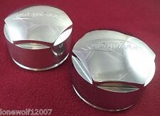 U.S. Wheels Chrome Custom Wheel Center Caps Set of 2